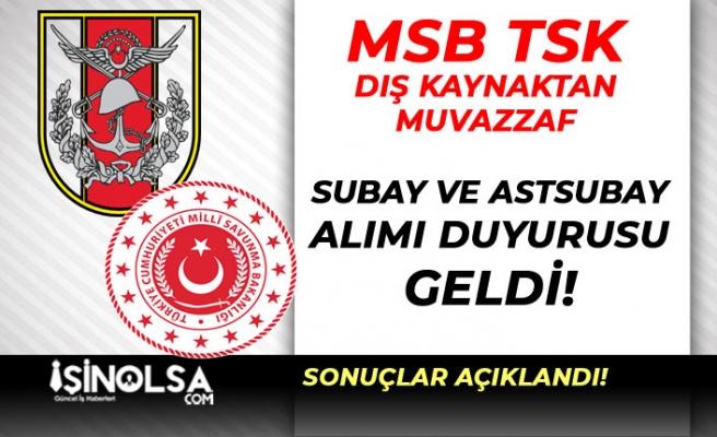 MSB TSK Dış Kaynaktan Bando Sınıfı Muvazzaf Subay ve Astsubay Alımı Duyurusu Yayımladı!