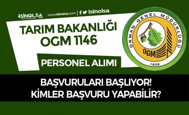 Orman Genel Müdürlüğü 1146 Personel Alımı Başvuruları Başlıyor!