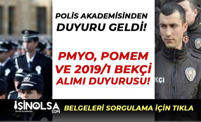 PA 'dan PMYO, POMEM ve 2019/1 Bekçi Alımı Duyurusu Yapıldı!