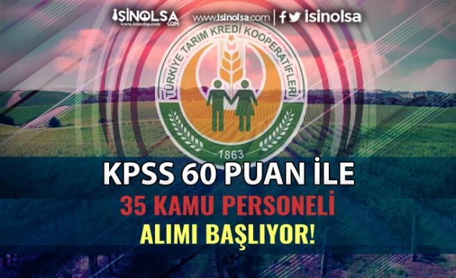 Sakarya Tarım Kredi KPSS 60 Puan İle 35 Kamu Personeli Alımı Başlıyor!