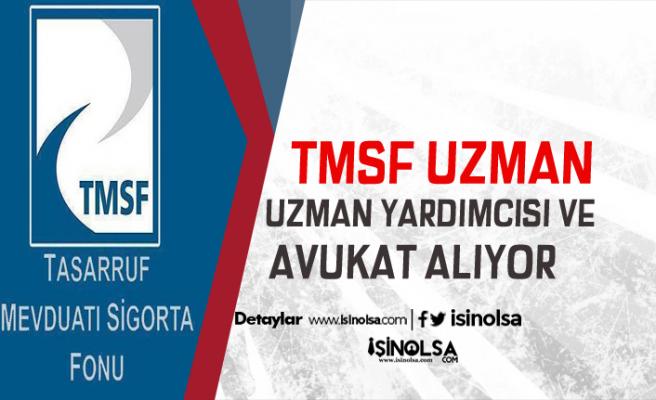 Tasarruf Mevduatı Sigorta Fonu TMSF 35 Uzman Yardımcı, Avukat İlanı Yayınladı