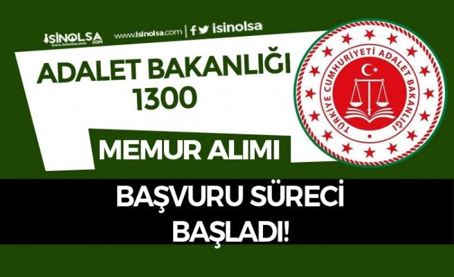 Adalet Bakanlığı 1300 Hakim ve Savcı Adayı Alımı Başvuruları Başladı!