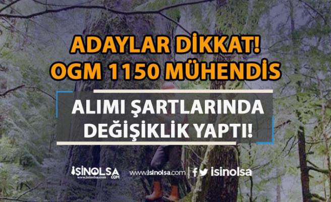 Adaylar Dikkat! OGM 1150 Orman Mühendisi Alımı Şartlarda Değişilik Yaptı!