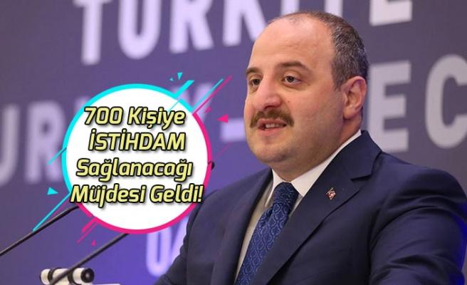 Bakan Varank 700 Kişiye İş İmkanı Sağlanacağı Müjdesini Verdi!