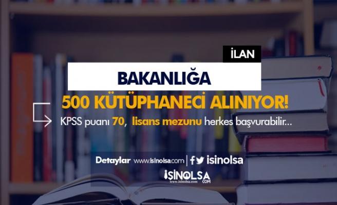 Bakanlığa 2019 Yılı 500 Kütüphaneci Alınıyor! Kimler Başvuru Yapabilir?