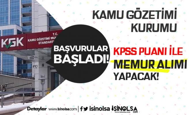 KGK KPSS Puanı İle Memur Alımı Başvuru Süreci Başladı!