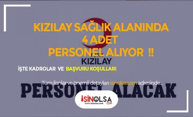 Türk Kızılayı 4 Sağlık Alanında Personel Alımı Yapıyor