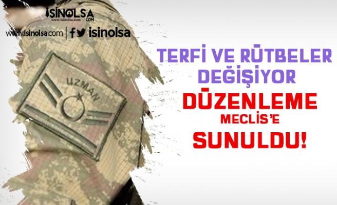 Jandarma, Polis, Uzman Erbaş, Subay, Astsubay Terfi ve Rütbe Sistemi Değişiyor!
