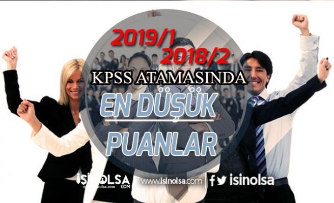 KPSS 2019/1 ve 2018/2 Memur Alımlarında En Düşük Puanlar!