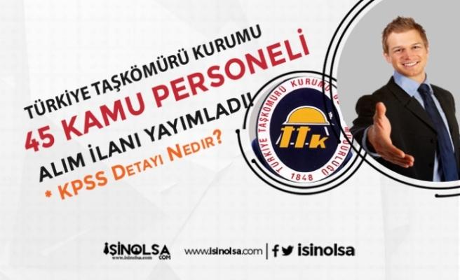 Türkiye Taşkömürü Kurumu ( TTK ) Sözleşmeli 45 Kamu Personeli Alımı İlanı