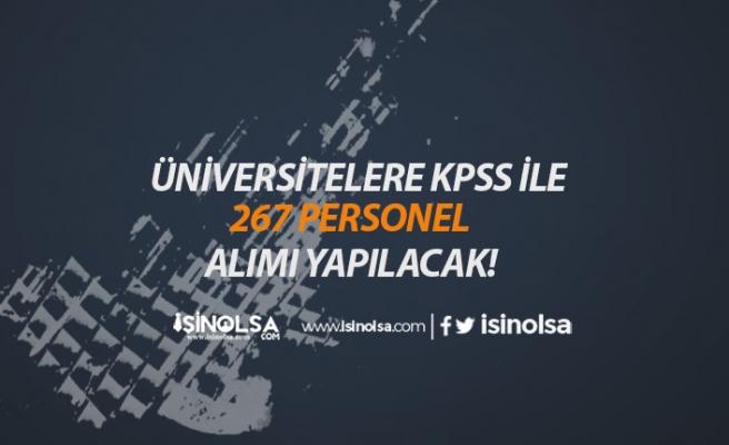 Üniversitelerde 267 Personel Alımı Başlıyor! İşte Detaylar!