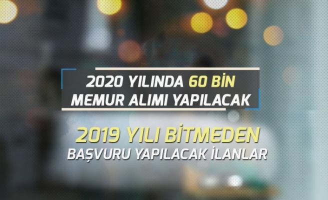 2020 Yılında Kamu Kurumlarına 60 Bin Memur Alınacak!