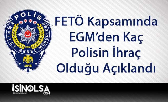 EGM'den FETÖ Kapsamında Kaç Polisin İhraç Olduğu Açıklandı