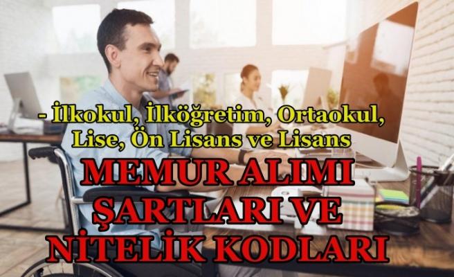 EKPSS İlkokul, Lise, Ön Lisans ve Lisans Kadroları ve Nitelik Kodları!