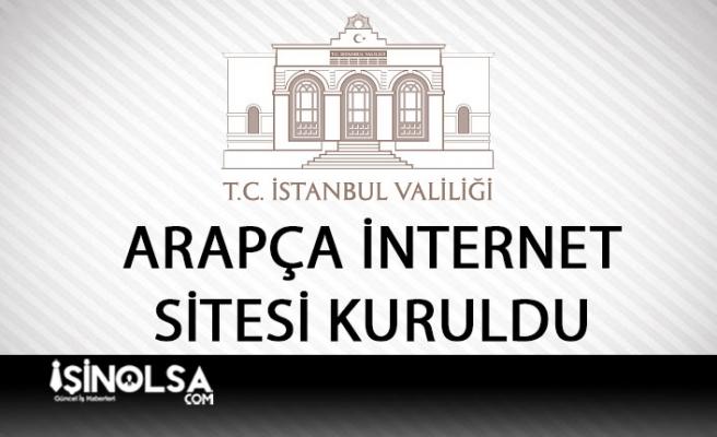 İstanbul Valiliği İnternet Sitesi Arapça Yayına Başladı