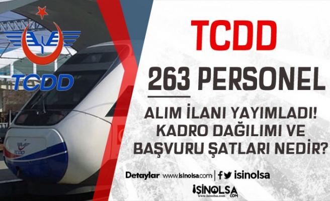 TCDD İŞKUR Aracılığı İle 263 Personel Alımı Yapacak! Kadro Dağılımı ve Şartlar?