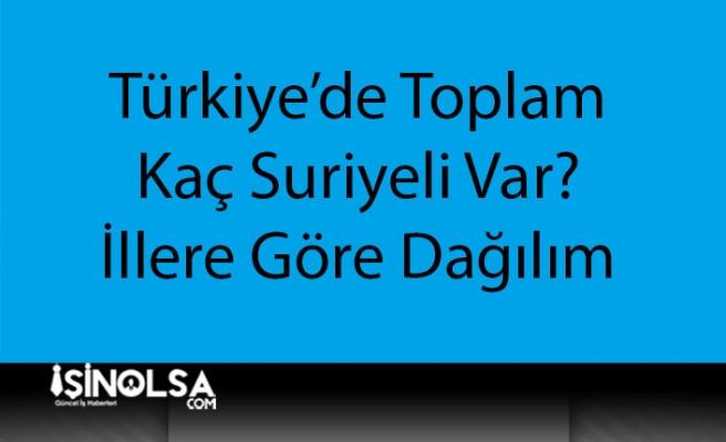 Türkiye'de Kaç Suriyeli Var? İllere Göre Suriyeli Dağılımı Nedir?