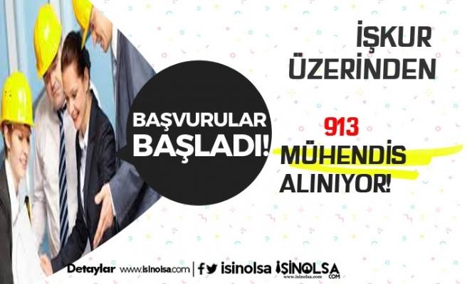 Yılın Son Gününde İŞKUR Üzerinden KPSS Şartsız 913 Mühendis Alınacak!