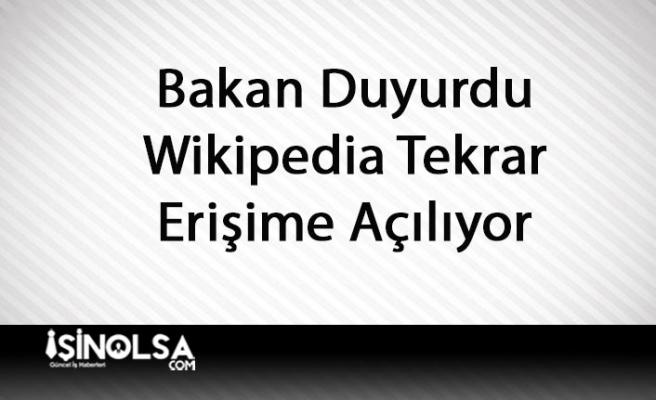 Adalet Bakanı Açıkladı: Wikipedia Tekrar Açılacak