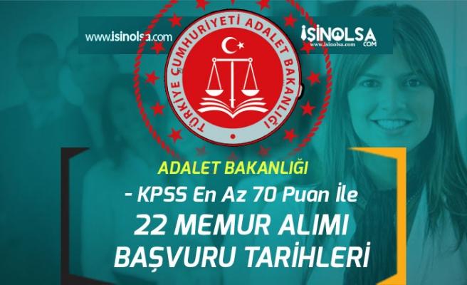 Adalet Bakanlığı 22 Kontrolör ve Pedagog Memur Alımı Başvuruları Ne Zaman Başlayacak?