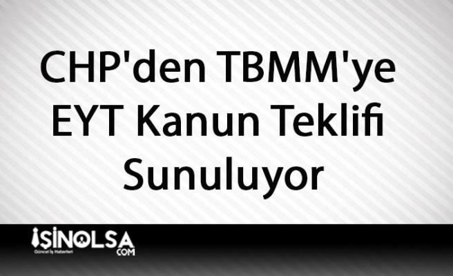 CHP'den TBMM'ye EYT Kanun Teklifi Sunuluyor