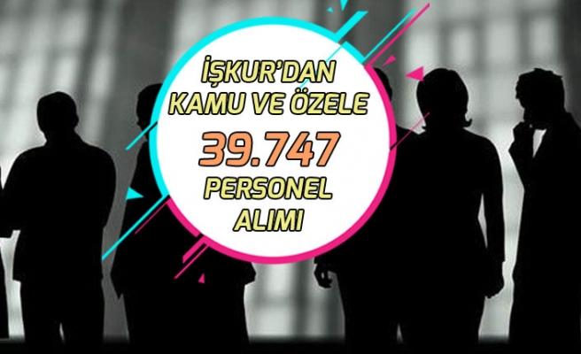 İŞKUR'dan Kamu Kurumu ile Özele 39.747 Personel İşçi Memur Alımı!