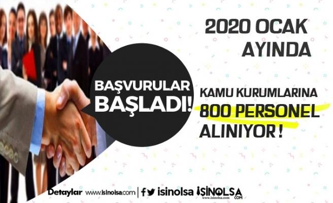 Kamu Kurumları Ocak 2020'de 800 Personel Alacak!