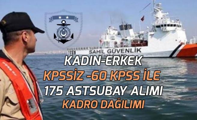 Sahil Güvenlik Komutanlığı Önlisans ve Lisans Mezunu 175 Astsubay Alımı Kontenjan Dağılımı!