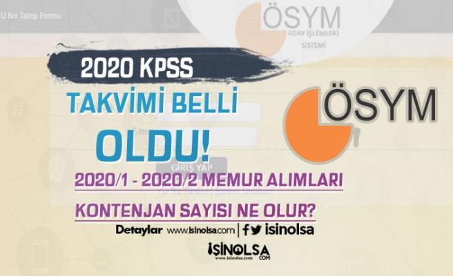 2020 Lise, Ön Lisans ve Lisans KPSS Takvimi İle 2020/1 ve 2020/2 Memur Alımları