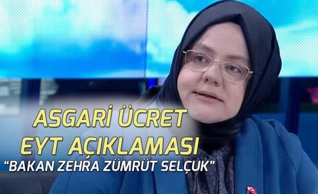 Çalışma Bakanı Selçuk EYT, Asgari Ücret ve Nafaka Açıklaması Yaptı!