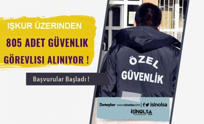 İŞKUR Üzerinden KPSS Şartsız 805 Güvenlik Görevlisi Alınacak!