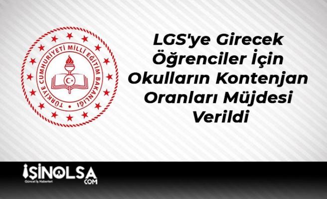 LGS'ye Girecek Öğrenciler İçin Okulların Kontenjan Oranları Müjdesi Verildi