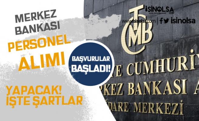 Merkez Bankası Kadrolu Personel Alımı ( Mühendis ) Yapacak! Başvurular Başladı