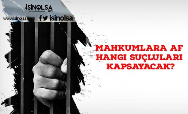 Mahkumlara Af Hangi Suçluları Kapsayacak?
