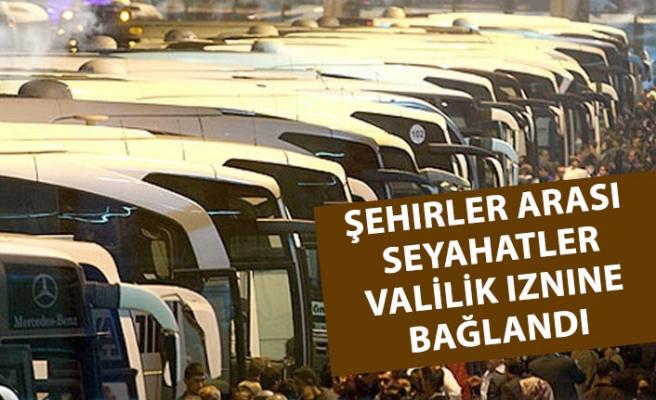 Şehirlerarası Otobüs Seyahatine Kısıtlama Getirildi.