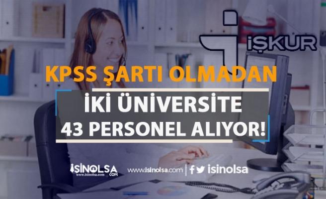 Selçuk ve Düzce Üniversitesi 43 İşçi Personel Alımı Yapacak!