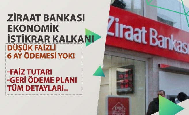 Ziraat Bankası Düşük Faiz, 6 Ay Ödemesiz Kredi Başvuru Şartı, Faiz Tutarı Belli Oldu