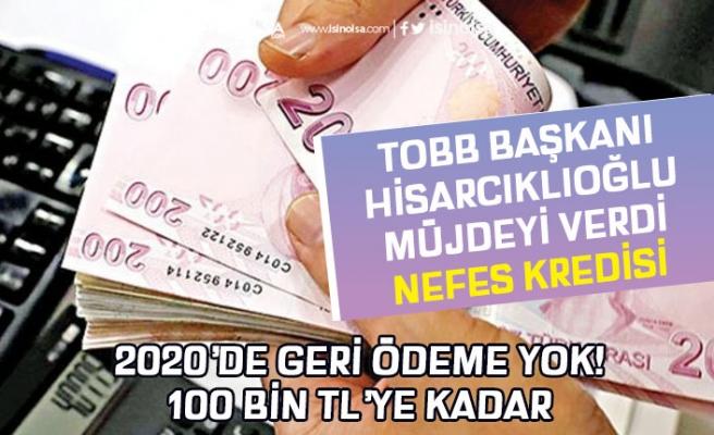2020'de Geri Ödemesiz Nefes Kredisi 100 Bin TL'ye Kadar Kullanılabilecek!