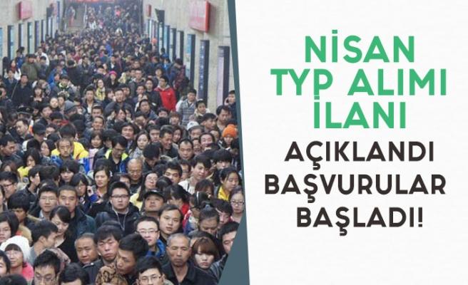 İŞKUR Nisan Ayı TYP Alım İlanları Açıklanmaya Başlandı!