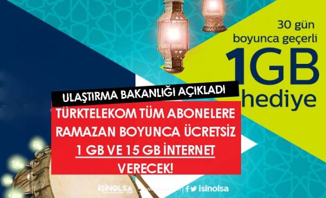 Türktelekom Ücretsiz 1 GB Ramazan Paketi İnternet Başvurusu Başladı!