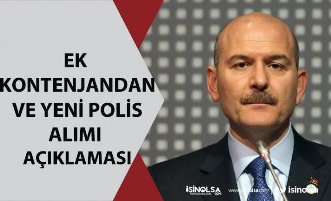 İçişleri Bakanı Soylu, Yeni Polis Alımı ve Yedek Kontenjandan Alım Açıklaması!