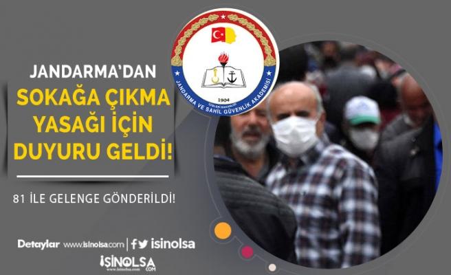 Jandarma'dan 65 Yaş Üzeri ve 20 yaş Altı Sokağa Çıkma Kararı Açıklaması Geldi!