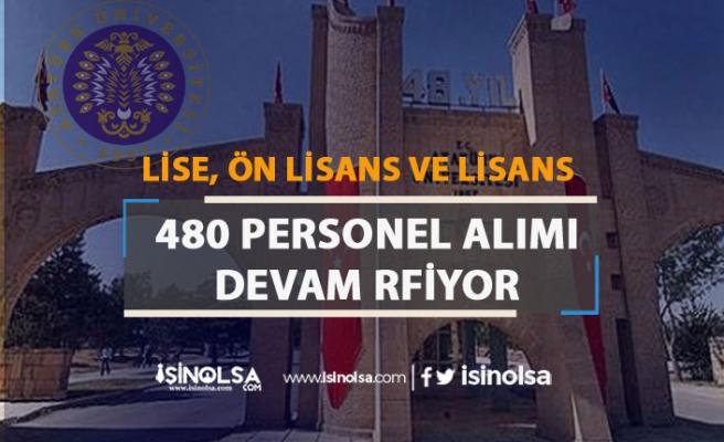 Atatürk Üniversitesi Hastaneye 480 Personel Alımı Devam Ediyor! En Az Lise Mezunu