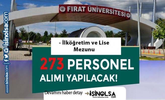 Fırat Üniversitesi İŞKUR İle 273 Personel Alımı Kadro Dağılımı ve Başvuru Şartları Nedir?