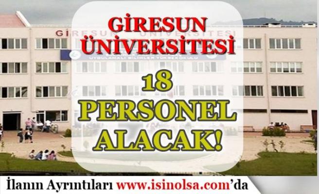 Giresun Üniversitesi 18 Personel Alımı Yapacak! İŞKUR'da Başvurular Başladı