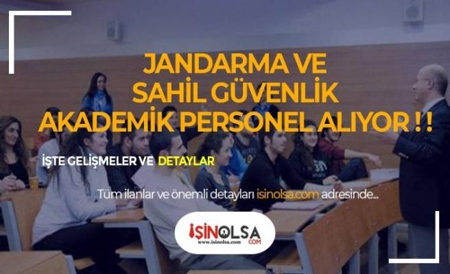 Jandarma ve Sahil Güvenlik Akademisi Personel Alımı Yapacak!