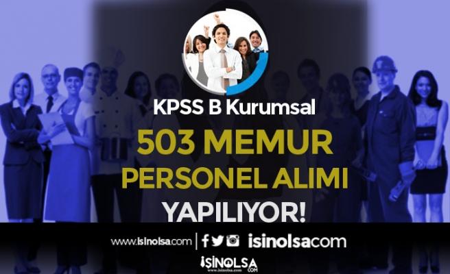 KPSS B Kurumsal İlanları: DİB, HSK ve 9 Belediye 503 Memur Alımı Yapacak