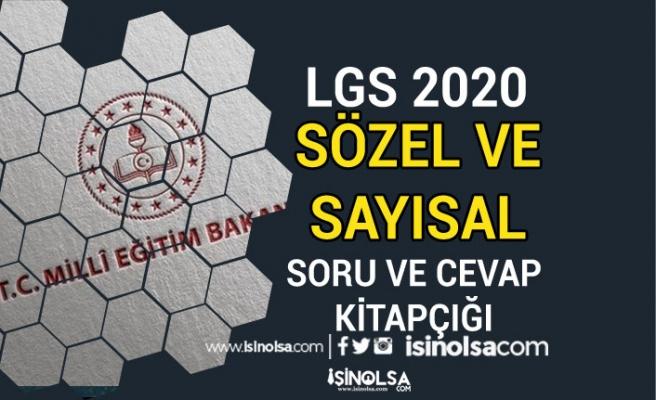 MEB 33 Sayfalık 2020 LGS Sözel ve Sayısal Soru ve Cevap Anahtarı Yayımlandı