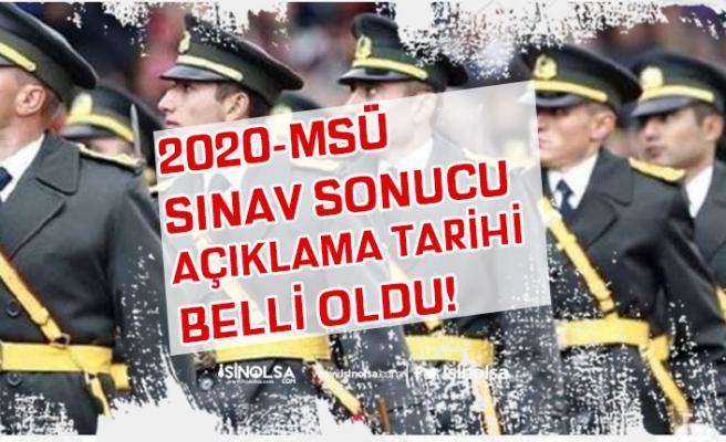 ÖSYM, 2020-MSÜ Sınav Sonucu Ne Zaman Açıklanacak Belli Oldu!
