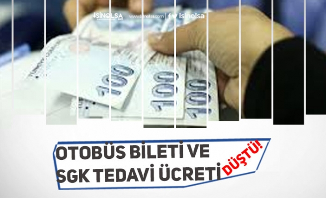 Otobüs Bilet Fiyatları ile SGK Tedavi Gideri Ödemeleri Düştü!